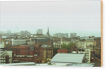 Wood Print featuring the photograph Sheffield Skyline by Anne Kotan