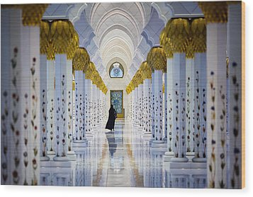 Sheikh Zayed Grand Mosque Wood Print