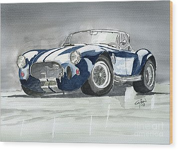 Shelby Cobra Wood Print