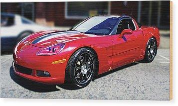 Shelby Corvette Wood Print