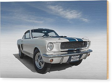Wood Print featuring the digital art Shelby Mustang Gt350 by Douglas Pittman