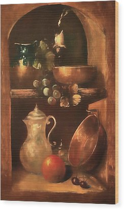 Wood Print featuring the photograph Shelf Life 2 by Donna Kennedy