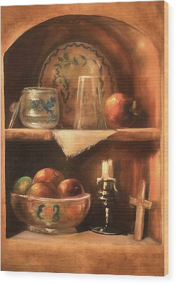 Wood Print featuring the photograph Shelf Life by Donna Kennedy