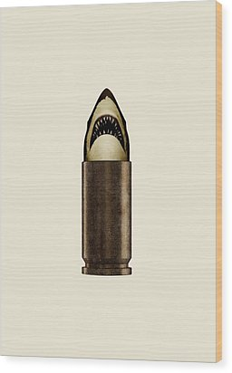 Shell Shark Wood Print by Nicholas Ely