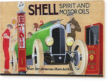 Shell Spirit Wood Print by Lyle Brown