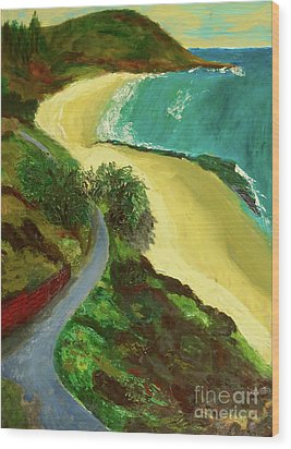 Shelly Beach Wood Print