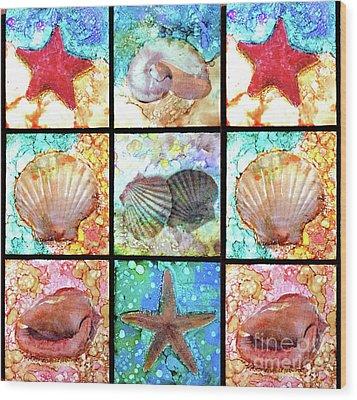 Shells X 9 Wood Print