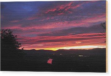 Wood Print featuring the photograph Shenandoah Morning Glow by Lara Ellis
