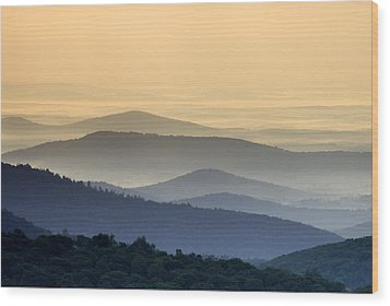 Shenandoah National Park Mountain Scene Wood Print by Brendan Reals