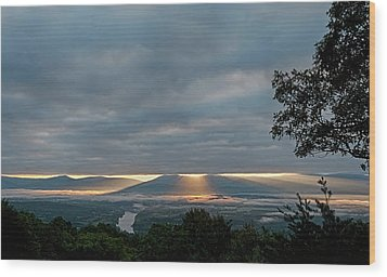 Wood Print featuring the photograph Shenandoah Valley First Light by Lara Ellis