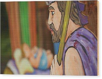 Shepherd Wood Print by Gaspar Avila
