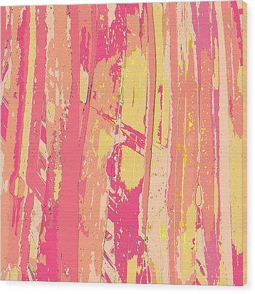Sherbet Palms Wood Print by Rosie Brown