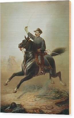Sheridan's Ride Wood Print by Thomas Buchanan Read