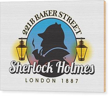 Sherlock Holmes Wood Print by Gary Grayson
