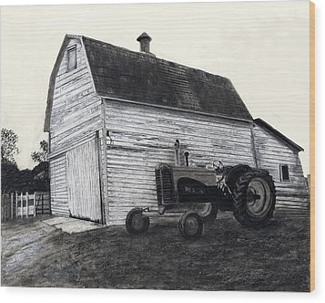 Sherry's Barn Wood Print by Bryan Baumeister