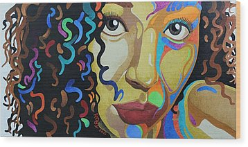 She's Complicated Wood Print by William Roby