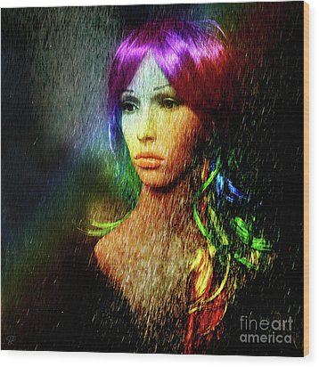 Wood Print featuring the photograph She's Like A Rainbow by LemonArt Photography