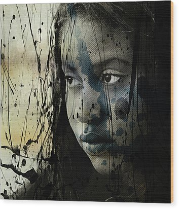 Wood Print featuring the mixed media She's Out Of My Life  by Paul Lovering