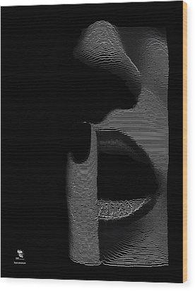 Shhh Wood Print