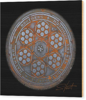 Shield 2 Wood Print