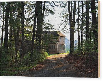 Wood Print featuring the photograph Shields Farm by Kathryn Meyer