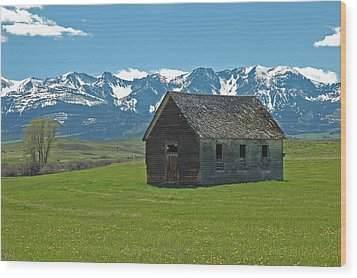 Wood Print featuring the photograph Shields Valley Abandoned Farm Ranch House by Bruce Gourley