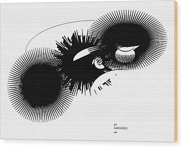 Shift Wood Print by Karen Diggs