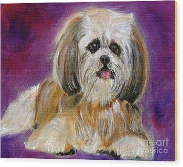 Shih-tzu Puppy Wood Print by Jenny Lee