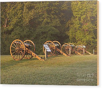 Shiloh Cannons Wood Print by David Bearden