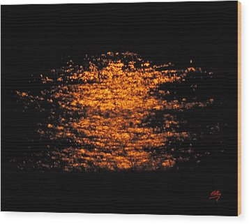 Wood Print featuring the photograph Shimmer by Linda Hollis