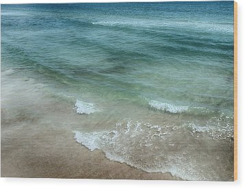 Shimmering Tide Wood Print by Judy Hall-Folde