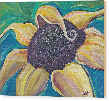 Wood Print featuring the painting Shine Bright by Tanielle Childers