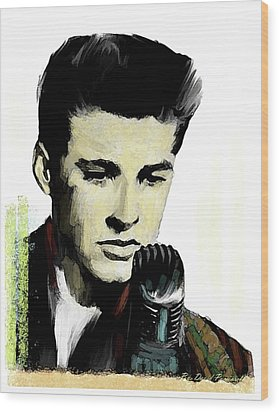 Wood Print featuring the painting Shine On Youth  Ricky Nelson by Iconic Images Art Gallery David Pucciarelli