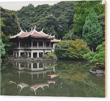 Shinjuku-gyoen Tea House Wood Print