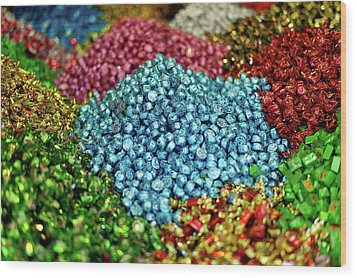 Shiny Sweets In Spice Market Wood Print by Image by Damian Bettles