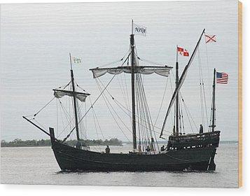 Ship 13 Wood Print by Joyce StJames