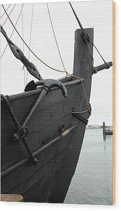 Ship 8 Wood Print by Joyce StJames