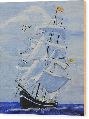 Ship It Wood Print