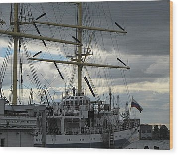 Wood Print featuring the pyrography Ship Masts by Yury Bashkin
