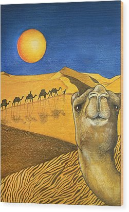 Ship Of The Desert Wood Print by Robert Lacy