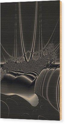 Ship Wreck Abstract Wood Print