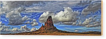 Wood Print featuring the photograph Shiprock Panorama by Scott Mahon