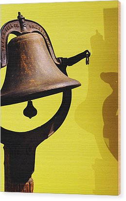 Wood Print featuring the photograph Ship's Bell by Rebecca Sherman