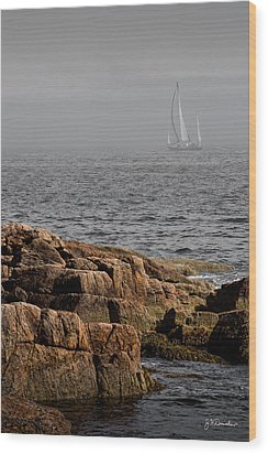 Ships Harbor In Maine Wood Print by James Dricker