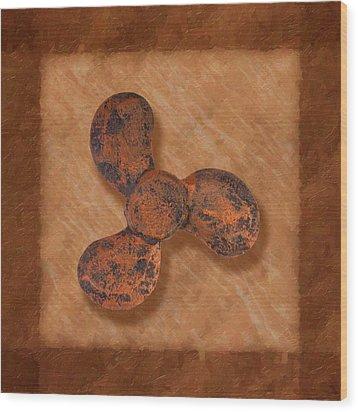 Ship's Propeller Wood Print by Tom Mc Nemar