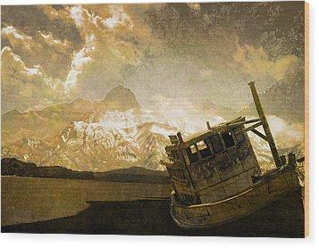 Shipwreck - Reload Wood Print by Jeff Burgess