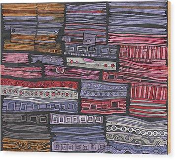 Shipwreck Wood Print by Sandra Church