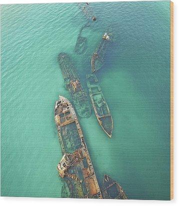Shipwrecks Wood Print
