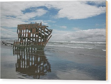 Wood Print featuring the photograph Shipwreck by Elvira Butler