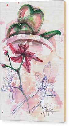 Shiraz Orchid II Wood Print